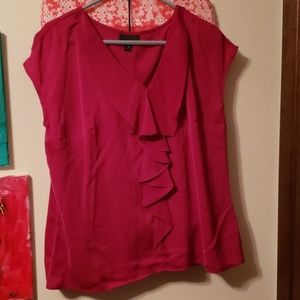 Beautiful, sumptuously silky magenta blouse